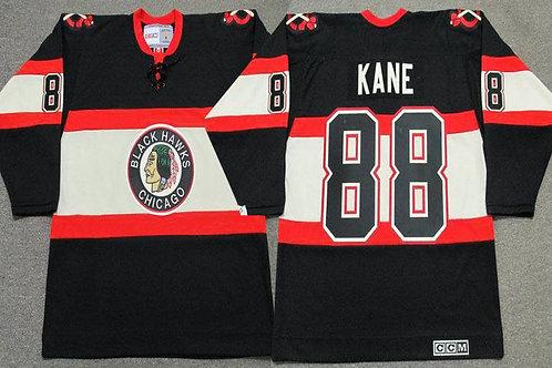 Men Patrick Kane Throwback Black, Red