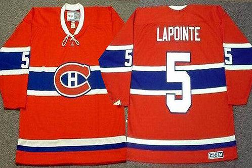Men Guy Lapointe Throwback Red, White