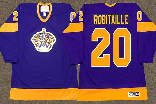 Men Luc Robitaille Throwback Purple, Gold
