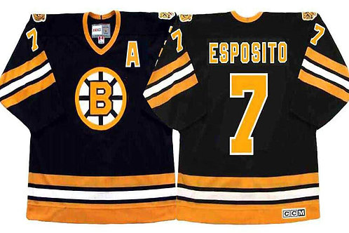 Men Phil Esposito Throwback 1970 Black, White