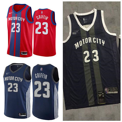 Men Blake Griffin City Edition Red, Navy Blue, Black