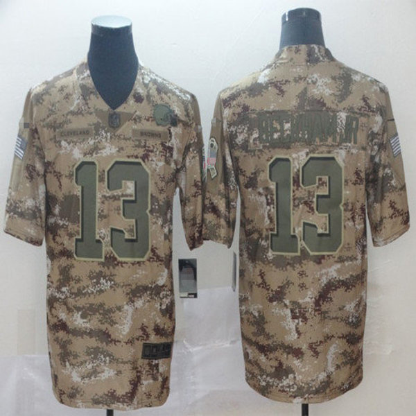 separation shoes 76a53 e3351 Youth Odell Beckham Jr. Camo, Salute to Service Olive | YUKIJERSEY