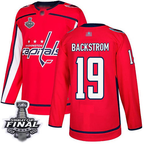 Men Nicklas Backstrom Cup Final Champions Home, Road, Alternate, Stadium