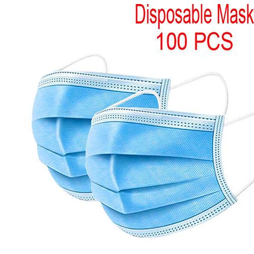 Disposable Civil Masks 3-Layer Full Face Mask (100packs)