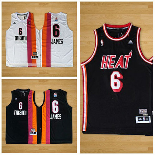Men LeBron James Throwback Black, White
