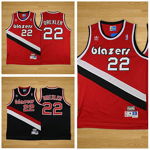 Men Clyde Drexler Throwback Red, White