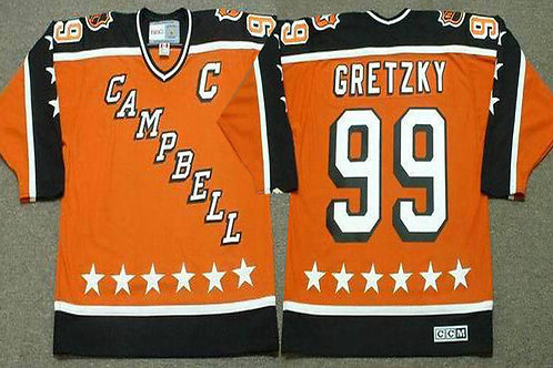 Men Wayne Gretzky Throwback All Star Orange, Red