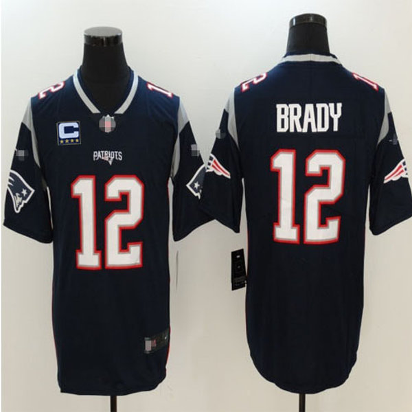 new style dc97a f542a Youth Tom Brady Vapor C Patch Navy Blue, White, Red, Color Rush | YUKIJERSEY