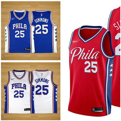 Men Ben Simmons Icon Edition Royal Blue, White, Red