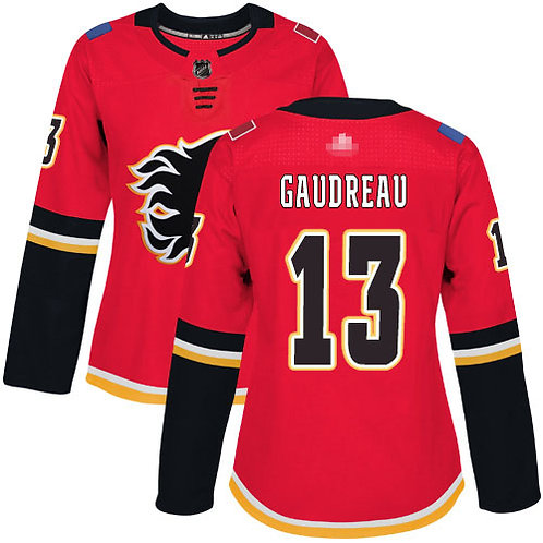 Women Johnny Gaudreau Red, White, Classic, Alternate Red