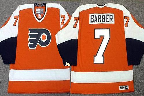 Men Bill Barber Throwback Orange, White