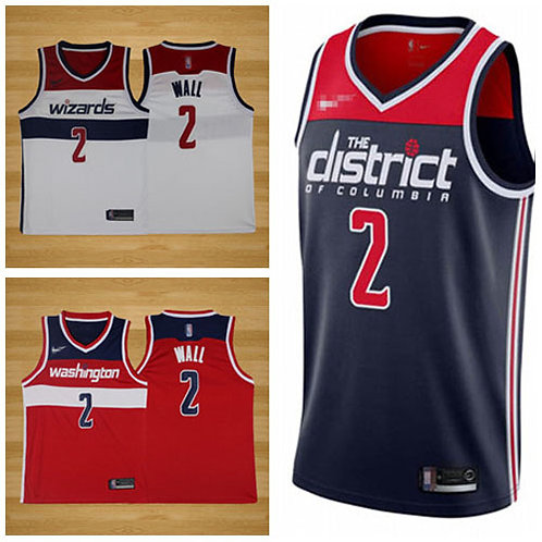 Men John Wall Icon Edition Navy Blue, White, Red