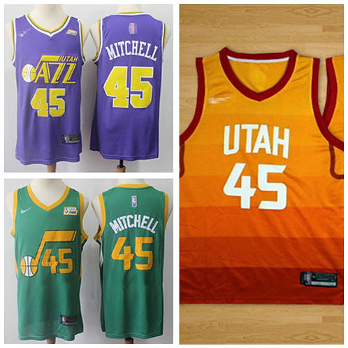 Men Donovan Mitchell City Edition Purple, Green, Gold