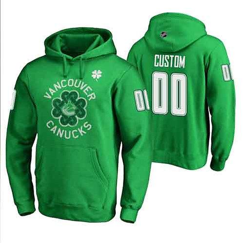 Men Custom Printing St. Patrick's Day Hoodie Green