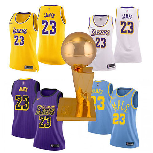 Women LeBron James Icon Edition Gold, White, Purple, Light Blue