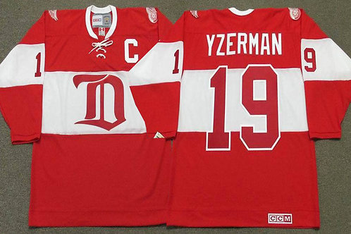 Men Steve Yzerman Throwback Red, White
