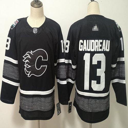 Men Johnny Gaudreau All-Star Black, White