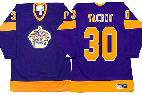 Men Rogie Vachon Throwback Purple, Gold