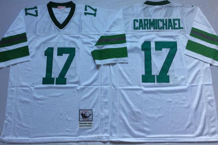 online retailer 5089a 44038 Men Harold Carmichael Throwback Midnight Green, White | YUKIJERSEY