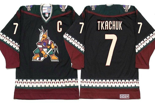 Men Keith Tkachuk Throwback Black