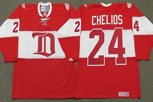 Men Chris Chelios Throwback Red, White
