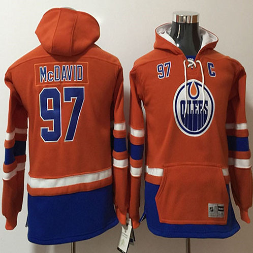Men Connor McDavid Hoodie Orange, Royal