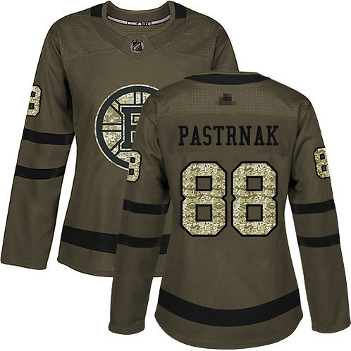 Women David Pastrnak Olive, Purple, Camo