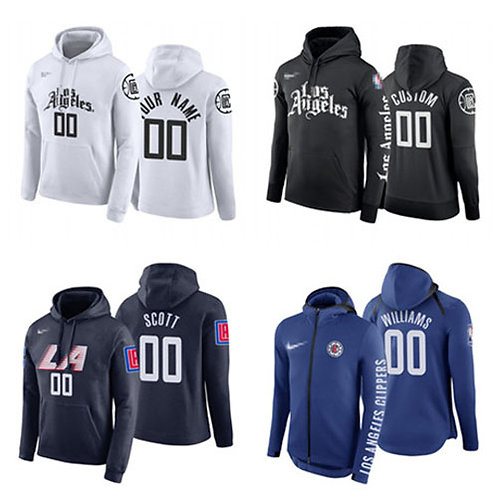 Men Lou Williams Hoodie White, Black, Navy Blue, Royal Blue