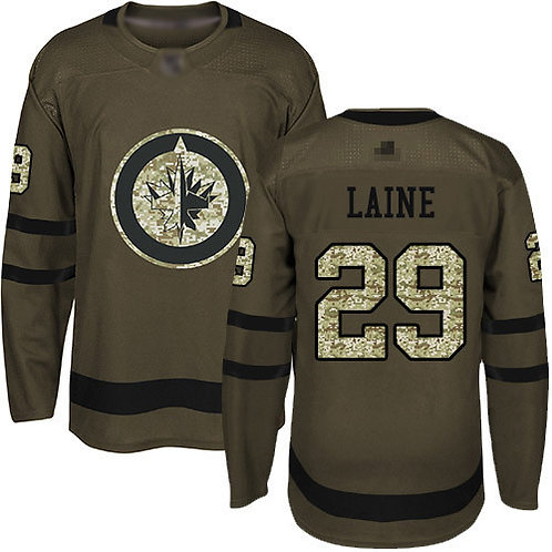 Men Patrik Laine Olive, Purple, Camo