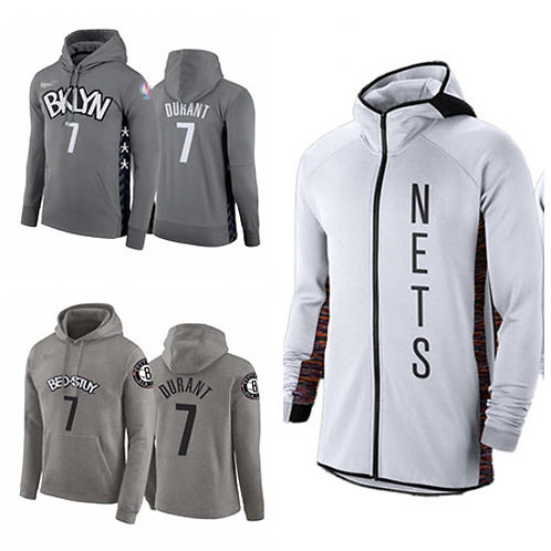 Men Kevin Durant City Hoodie Gray, White