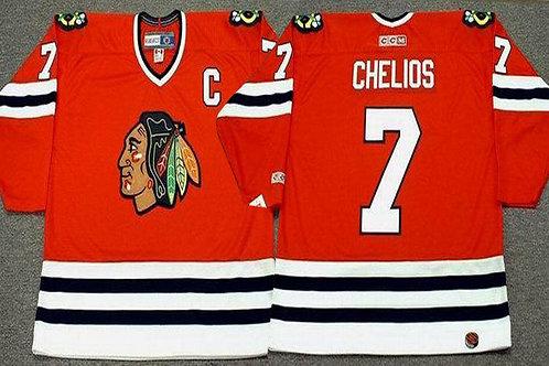 Men Chris Chelios Throwback 1996 Red, White