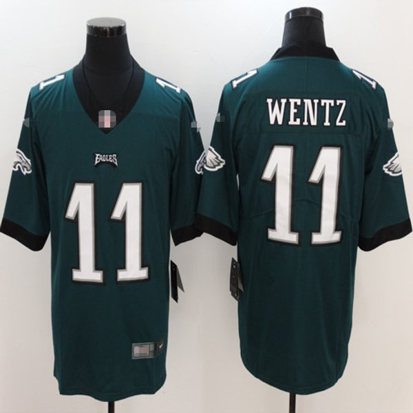 hot sale online bbc71 bf6b5 Men Carson Wentz Limited Midnight Green, White, Black, Color Rush, Inverted  | YUKIJERSEY