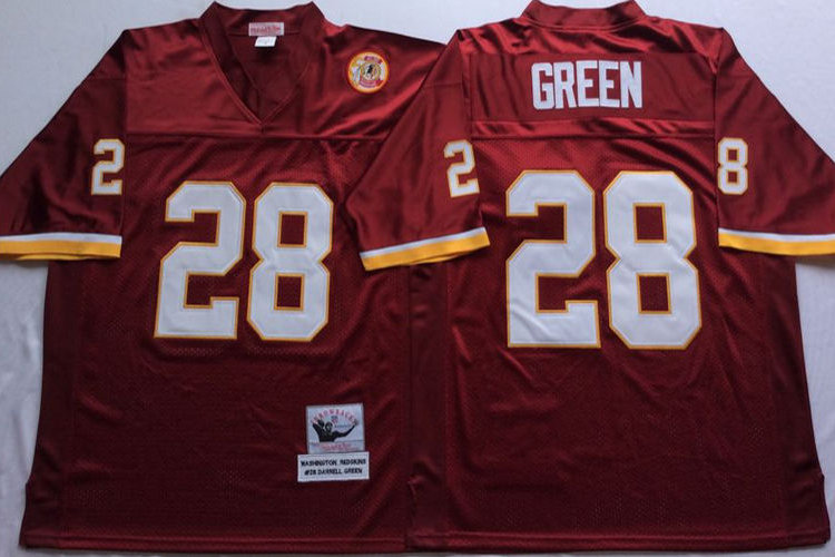 size 40 9e795 7cb36 Men Darrell Green Throwback Red, White | YUKIJERSEY