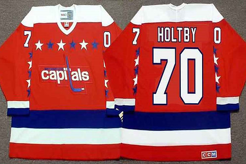 Men Braden Holtby Throwback Red