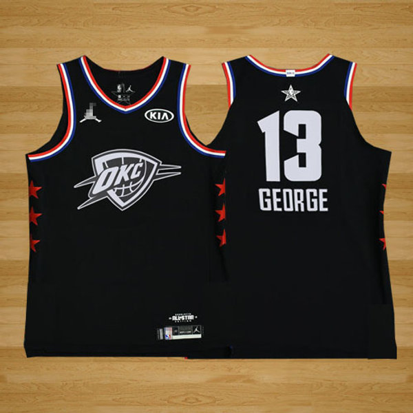 on sale 1bd7f 0dbf8 Men Paul George 2019 Game Black and White | YUKIJERSEY