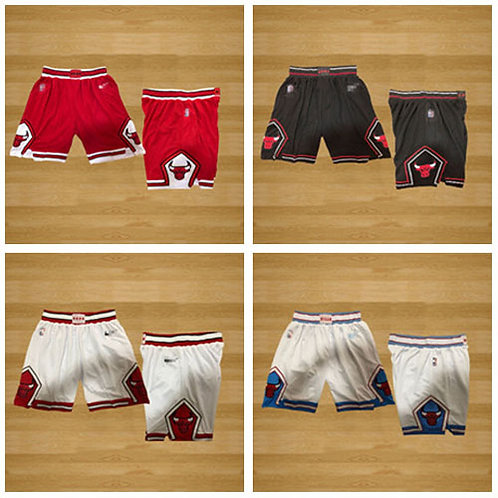Men Bulls Shorts Icon Edition Red, White, Black