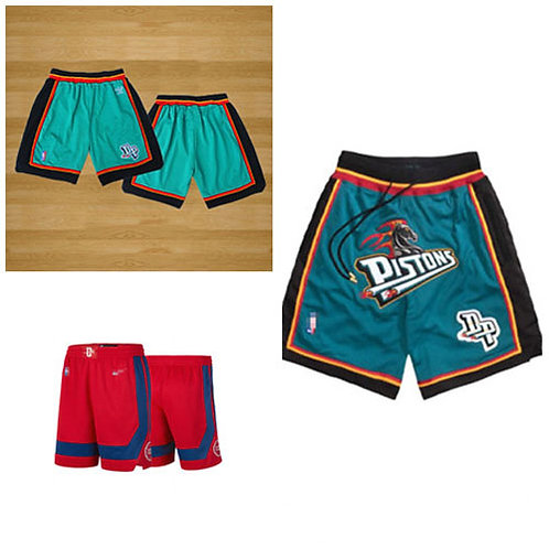 Men Shorts Throwback Teal, Red