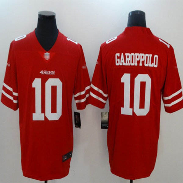 the best attitude c53ec 043ea Men Jimmy Garoppolo Vapor Red, White, Black, Color Rush, Inverted |  YUKIJERSEY