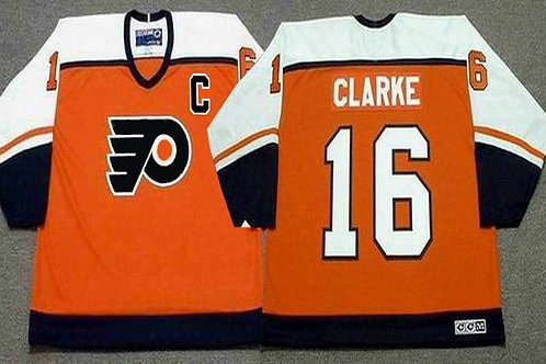 Men Bobby Clarke Throwback Orange, White