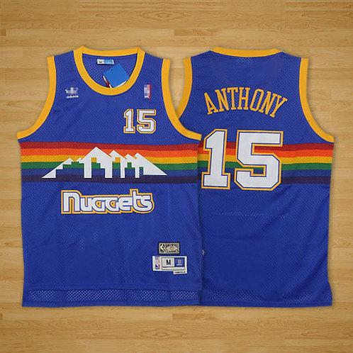 Men Carmelo Anthony Throwback Blue