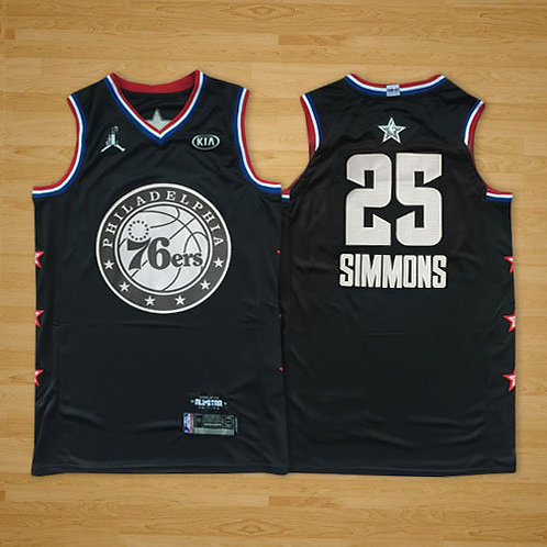 Men Ben Simmons 2019 Game Black and White