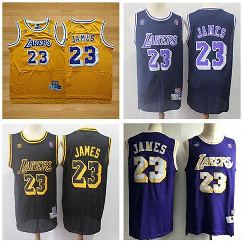 Men LeBron James Throwback Gold, Purple, Black, Navy Blue