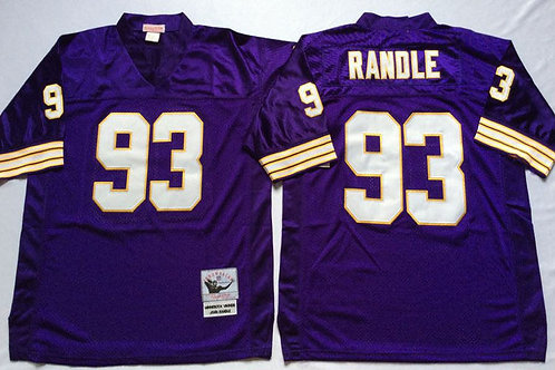best authentic 908a4 0b534 Men John Randle Throwback Purple, White | YUKIJERSEY
