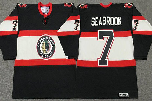 Men Brent Seabrook Throwback Black
