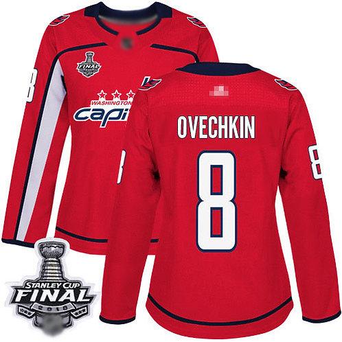Women Alex Ovechkin Stanley Cup Final Champions Home, Road, Alternate, Stadium