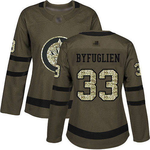 Women Dustin Byfuglien Olive, Purple, Camo