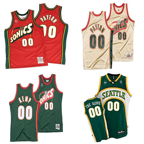 Men Custom Throwback Green, White, Red
