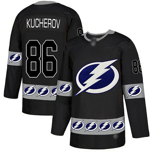 Men Nikita Kucherov Black Fashion, 100th Anniversary, Drift Fashion