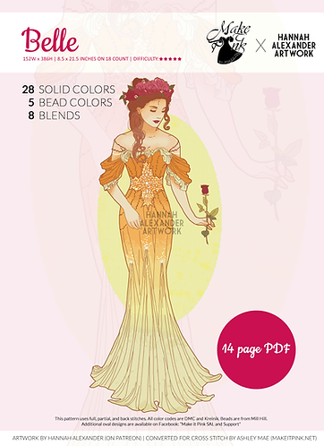 Belle in Art Nouveau from Hannah Alexander