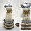 Thumbnail: Floral Cream and Blue with Pink, Green, and Yellow Layered Miniature Bead Dress